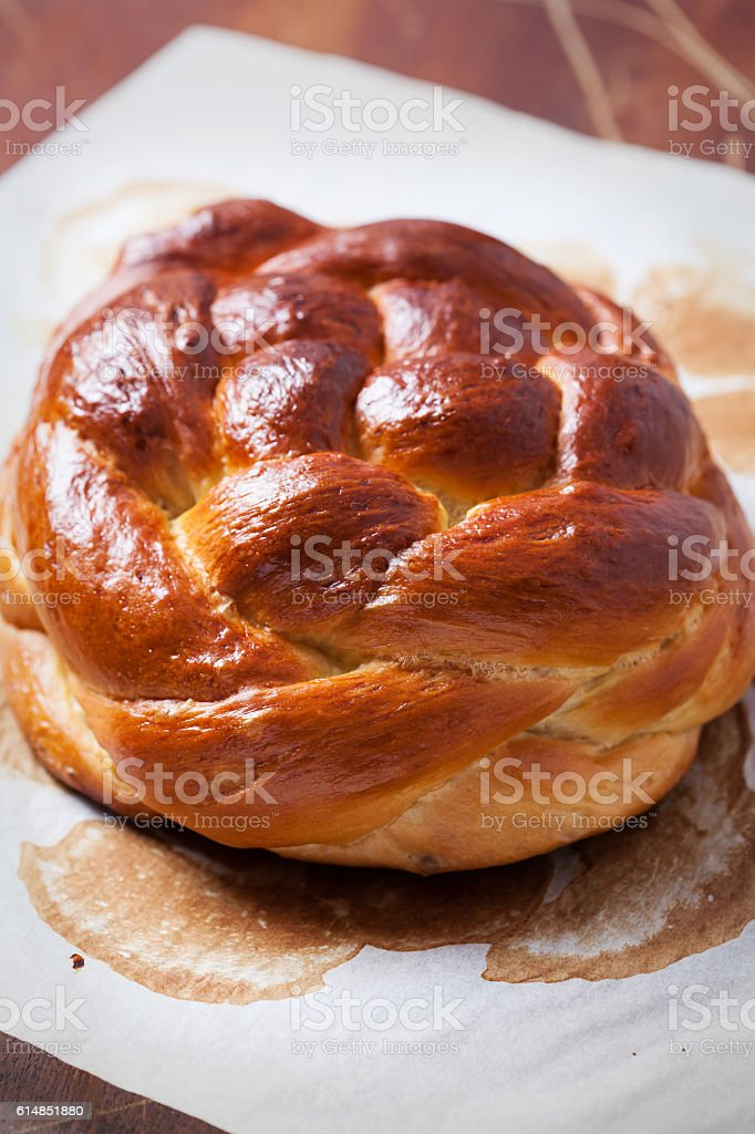 Challah bread stock photo