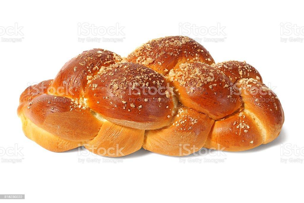 Challah bun stock photo