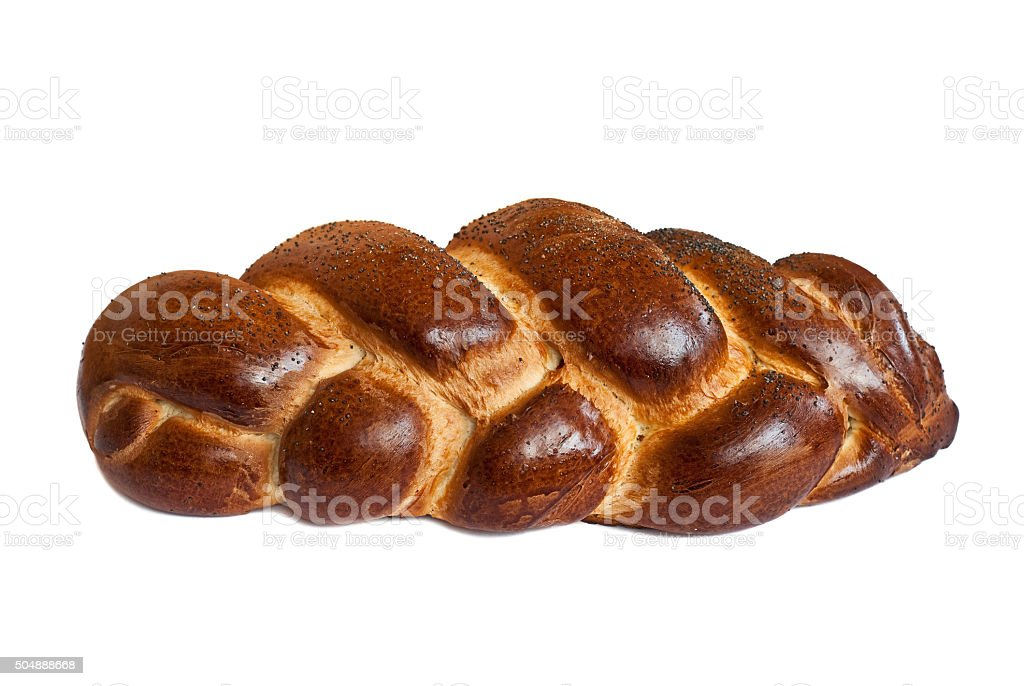 challah isolated on a white background stock photo