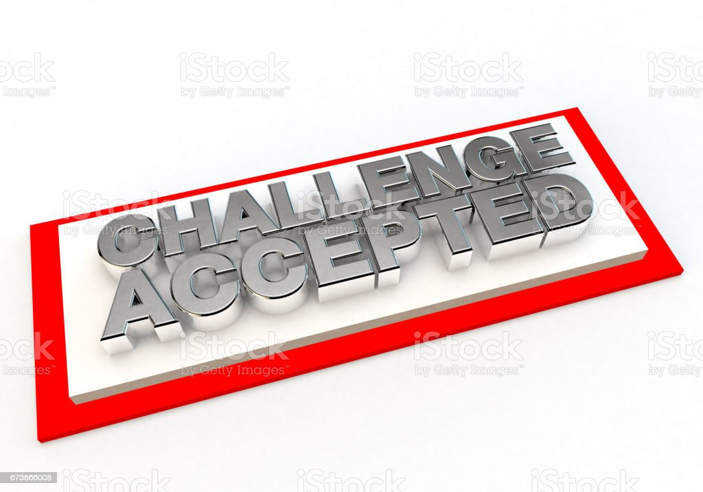 challenge accepted stamp of approval royalty-free stock photo