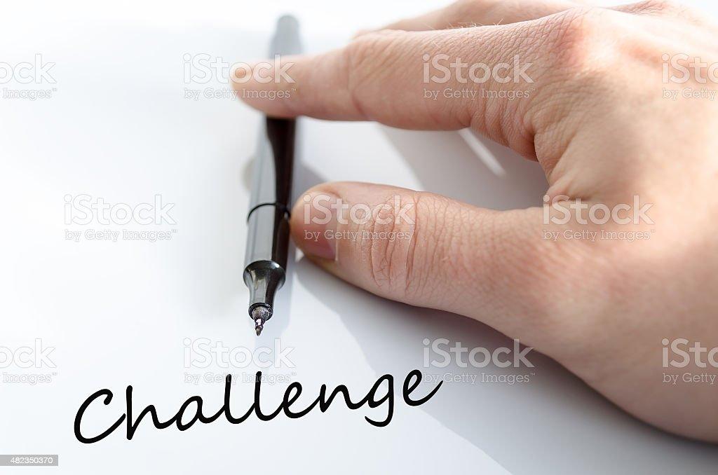 Challenge Concept stock photo