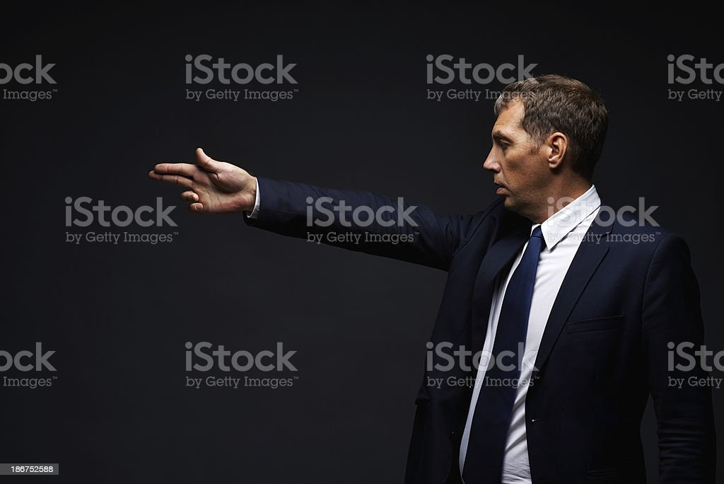Challenge to a duel royalty-free stock photo
