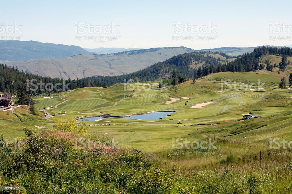 Challenging And Beautiful Golf Course royalty-free stock photo