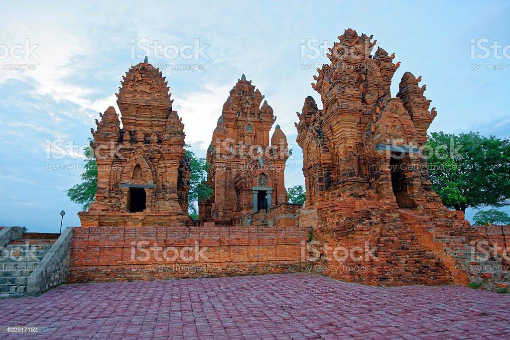 Cham towers , Ninh Thuan, Vietnam -  - 09 Oct 2016 stock photo