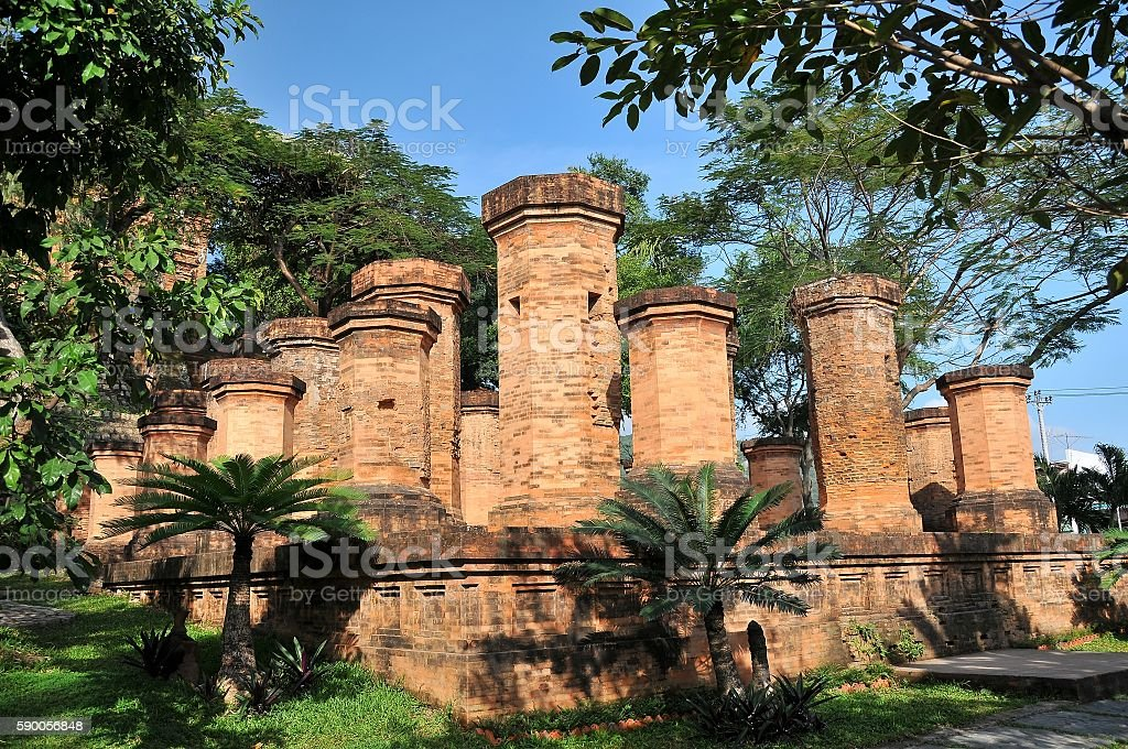 Cham towers of Po Nagar. Famous palace in Nhatrang, Vietnam stock photo