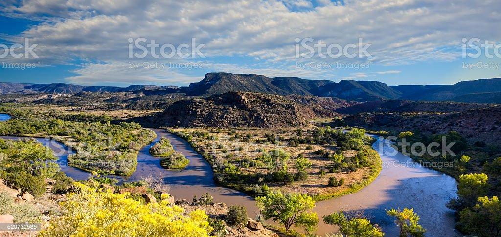 Chama River Overlook stock photo