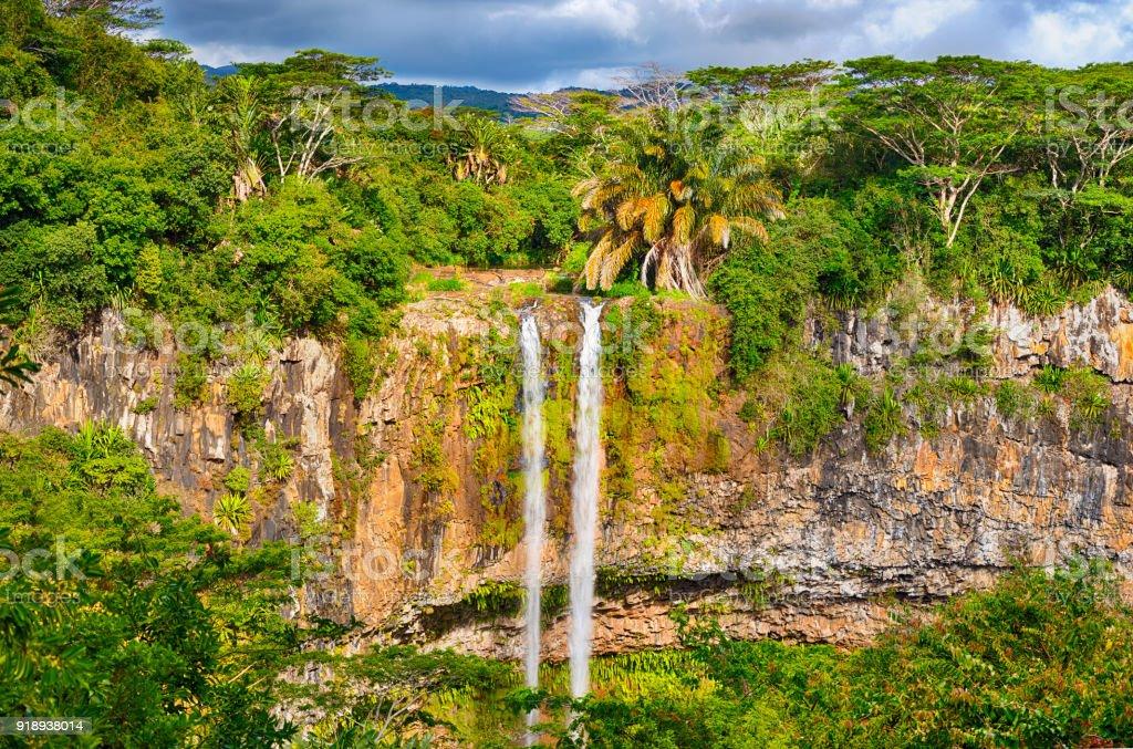 Chamarel Wasserfall. Schöne Landschaft. Mauritius – Foto
