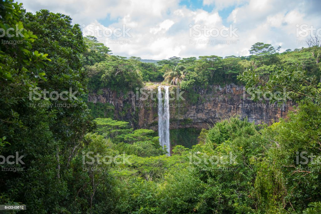 Chamarel Waterfall Mauritius Island stock photo