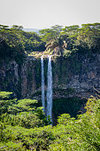 waterfalls of chamarel on mauritius island, africa