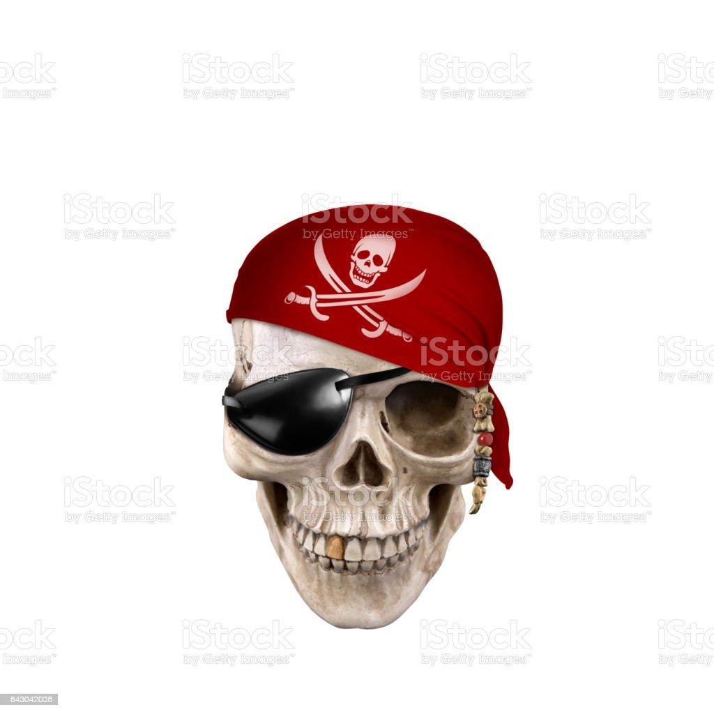 Chamber of Skulls isolated on white background stock photo