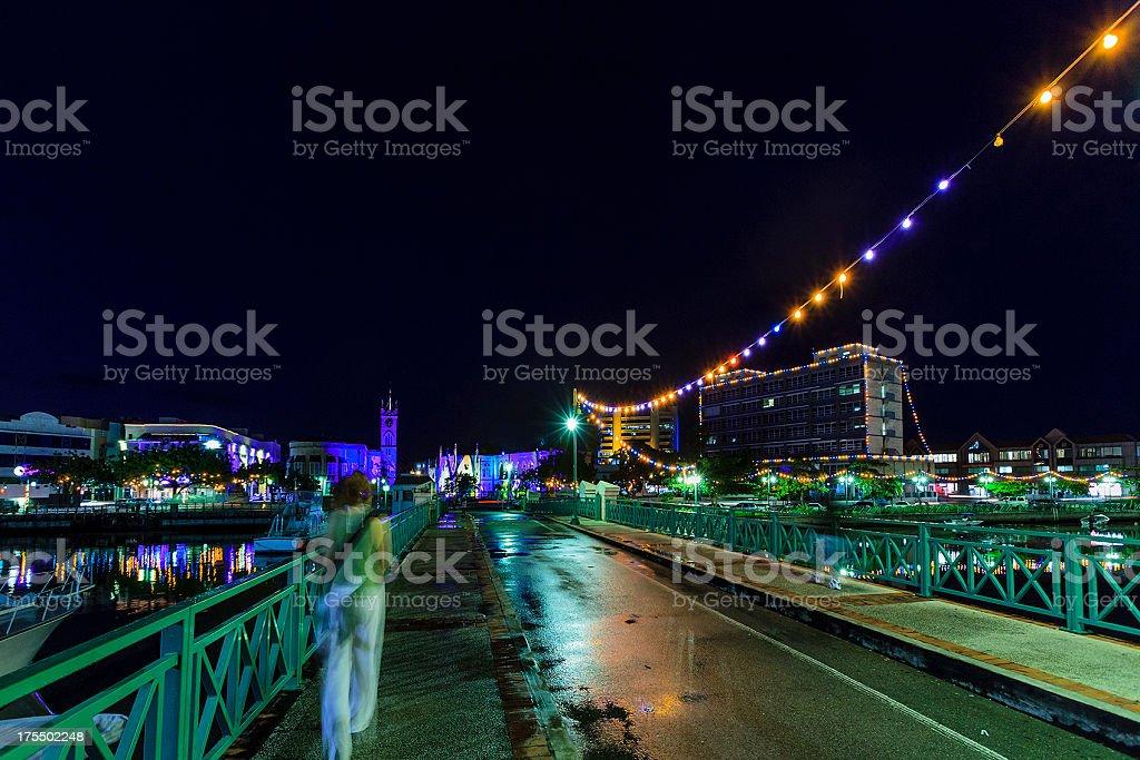 Chamberlain Bridge, Bridgetown, Barbados stock photo