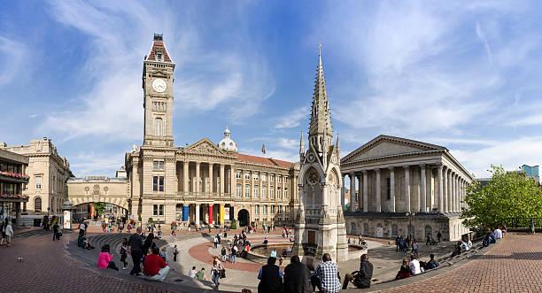 Chamberlain Square, central Birmingham stock photo
