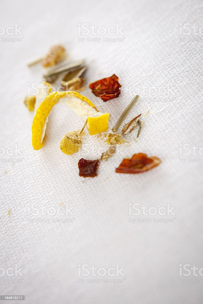 Chamomile tea leafs royalty-free stock photo