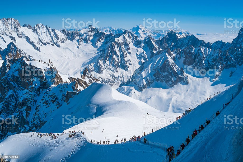 Chamonix Mont Blanc stock photo