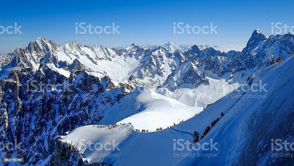 Chamonix Mont Blanc stock photo
