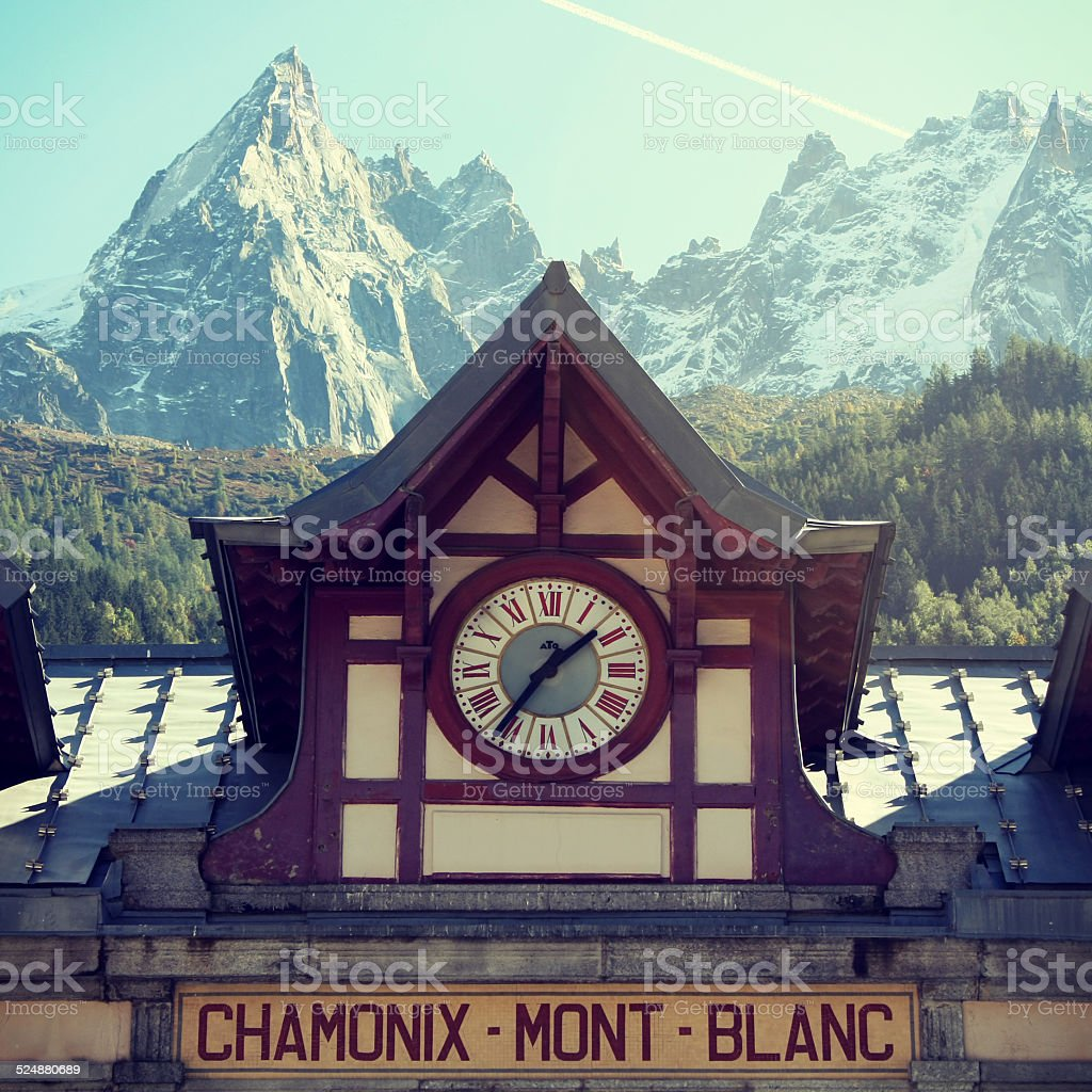 Chamonix - Mont Blanc train station stock photo