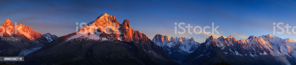 Chamonix mountains stock photo