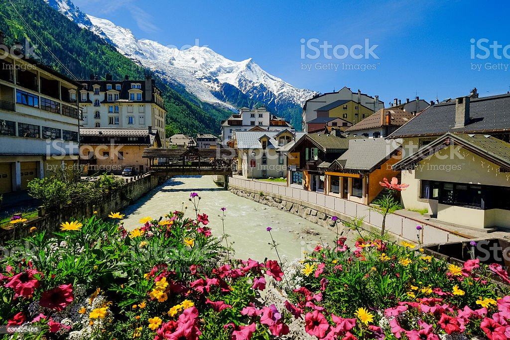 Chamonix stock photo