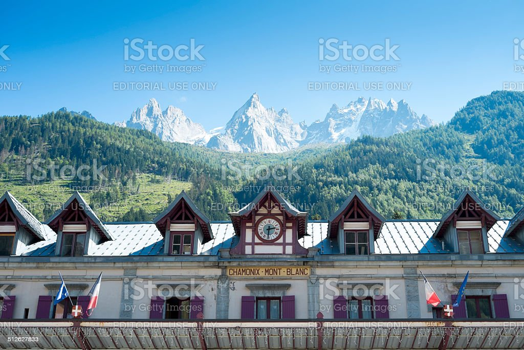 Chamonix station stock photo