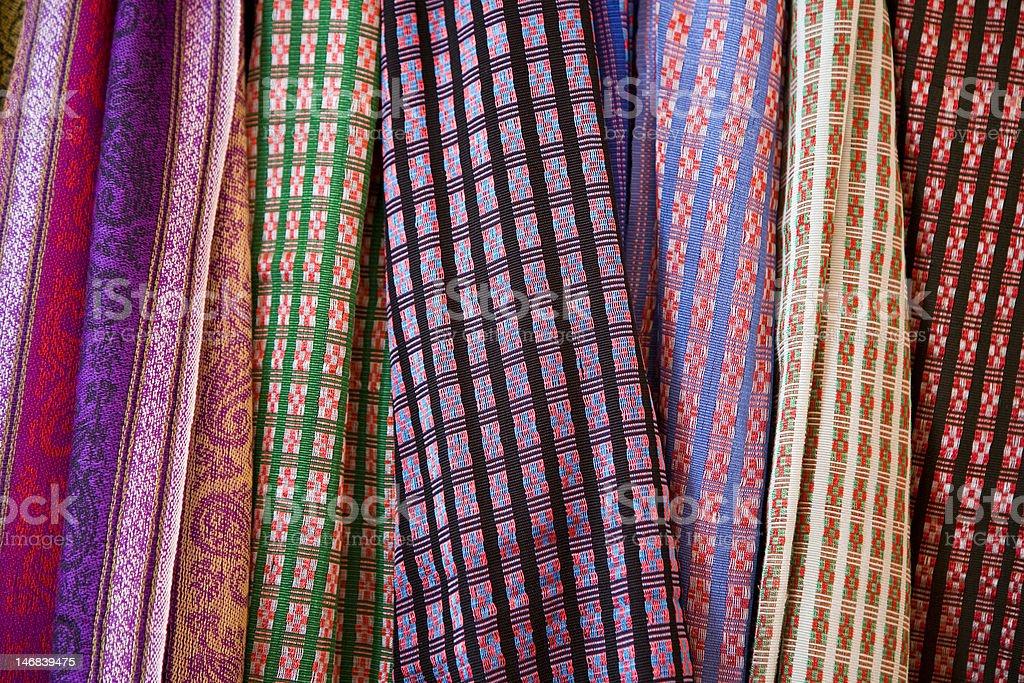 Champa ethnic minority embroidery handicraft stock photo