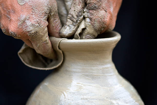 champa ethnic minority pottery craft - minority stock photos and pictures