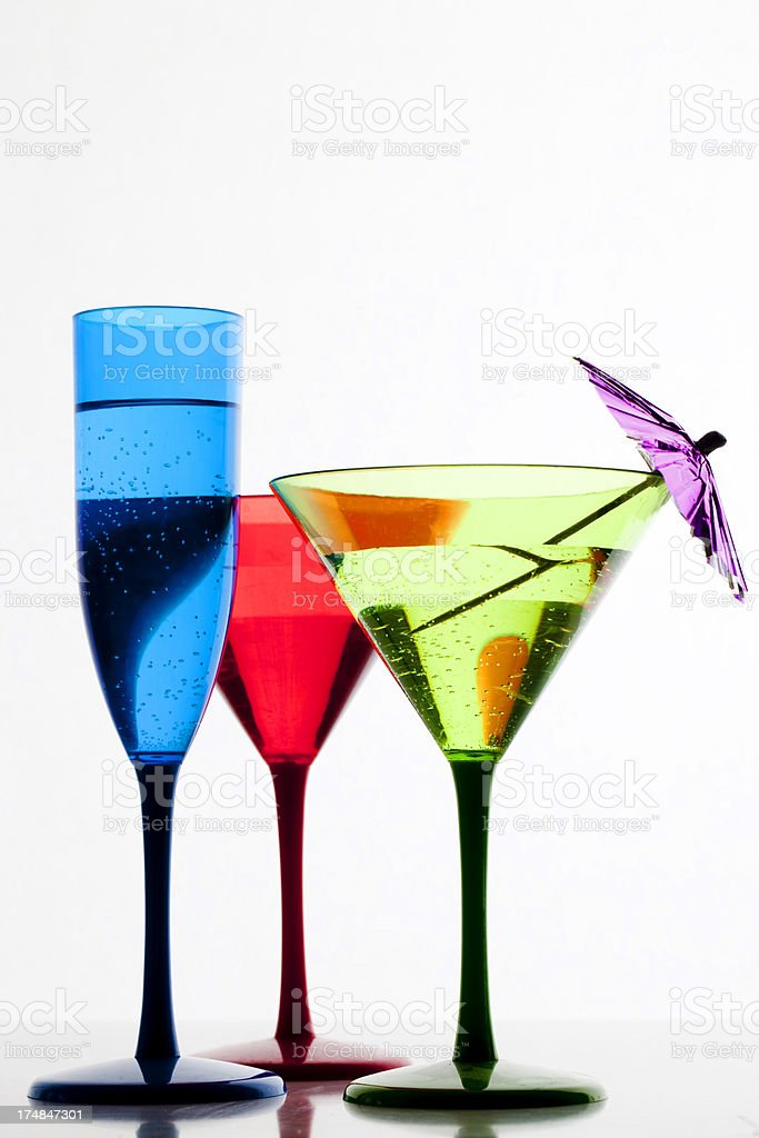 Champagne and Cocktails royalty-free stock photo