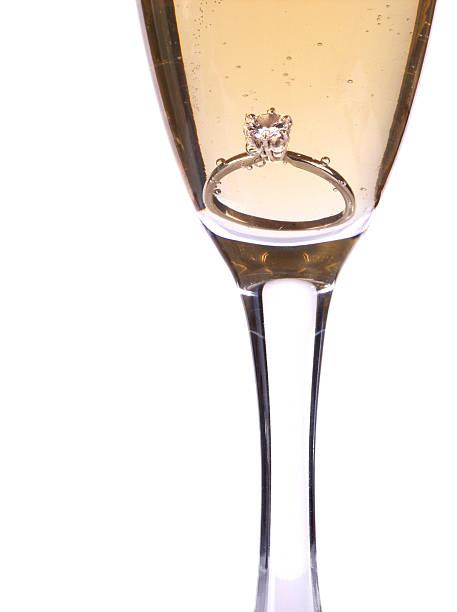 champagne and  diamond stock photo