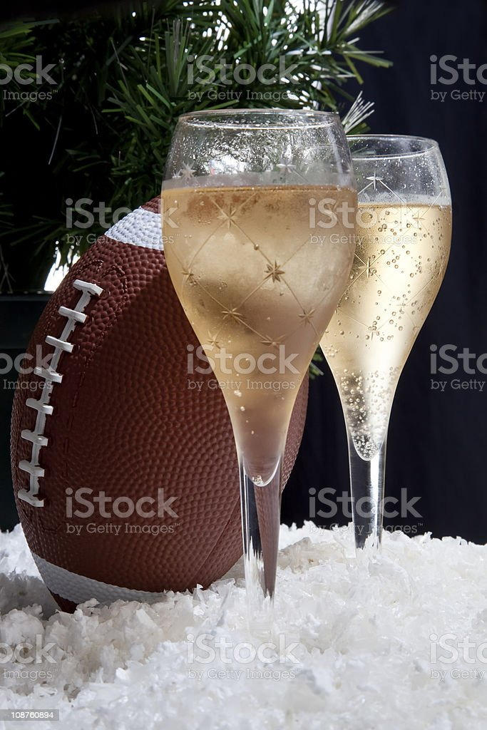 Champagne and football - Royalty-free Alcohol - Drink Stock Photo