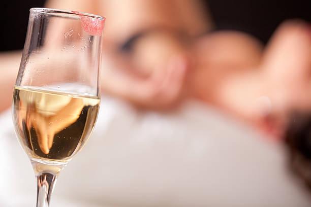 Champagner und Liebe machen – Foto