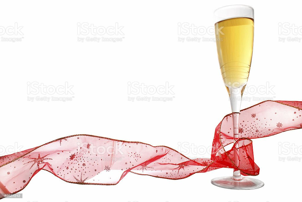 Champagne and Ribbon 免版稅 stock photo