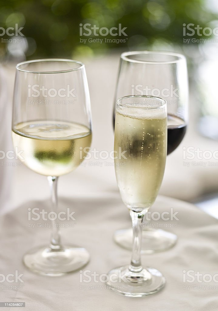 Champagne and wines royalty-free stock photo