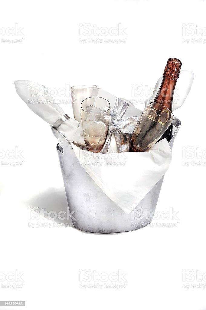 champagne basket 010 stock photo