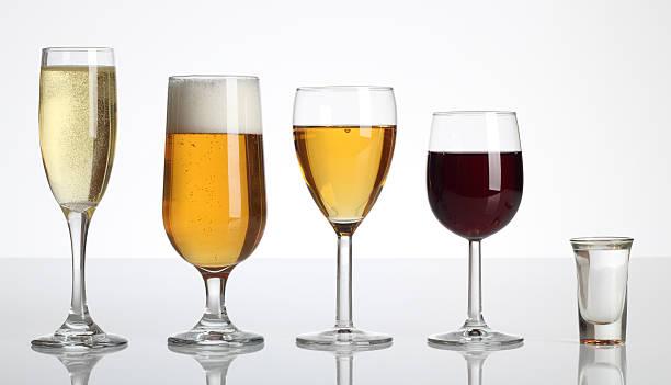 Champagne la bière, du vin et des spiritueux - Photo