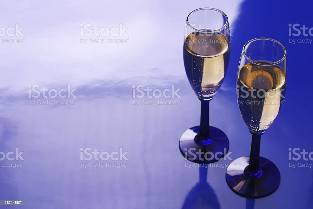 Champagne Blue royalty-free stock photo