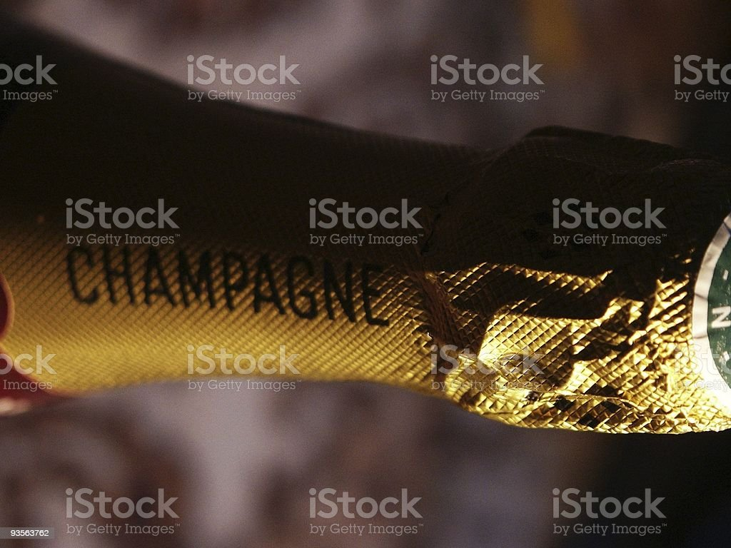 champagne bottle detail royalty-free stock photo