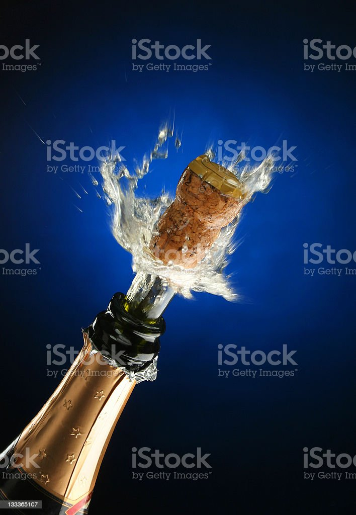 Champagne bottle ready for celebration royalty-free stock photo