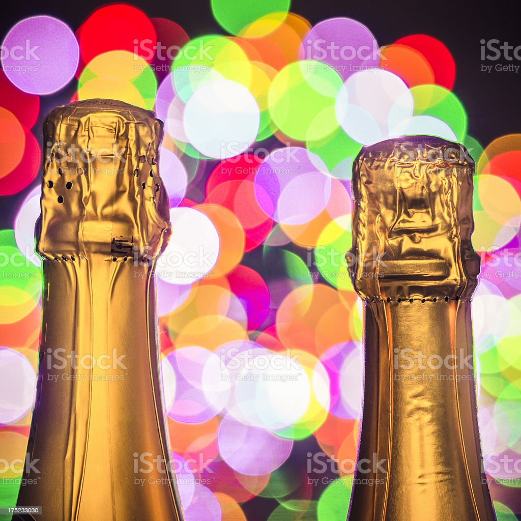 Champagne bottle ready for the new year celebration royalty-free stock photo