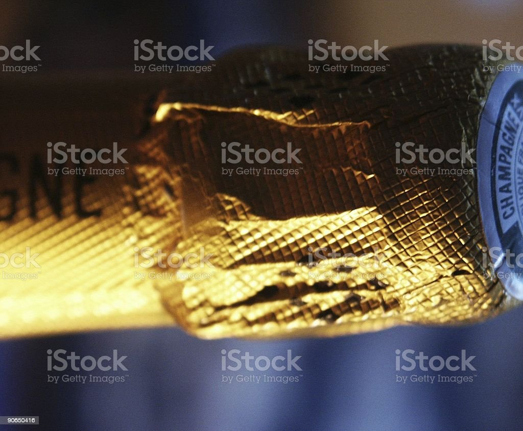 champagne bottle's neck royalty-free stock photo