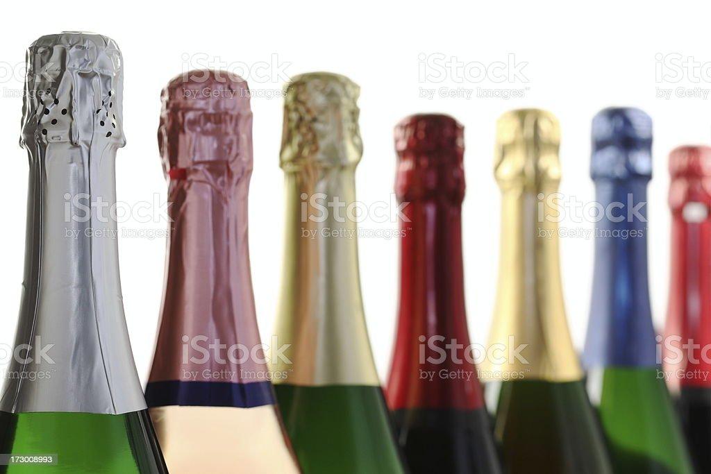 Champagne Bottles stock photo