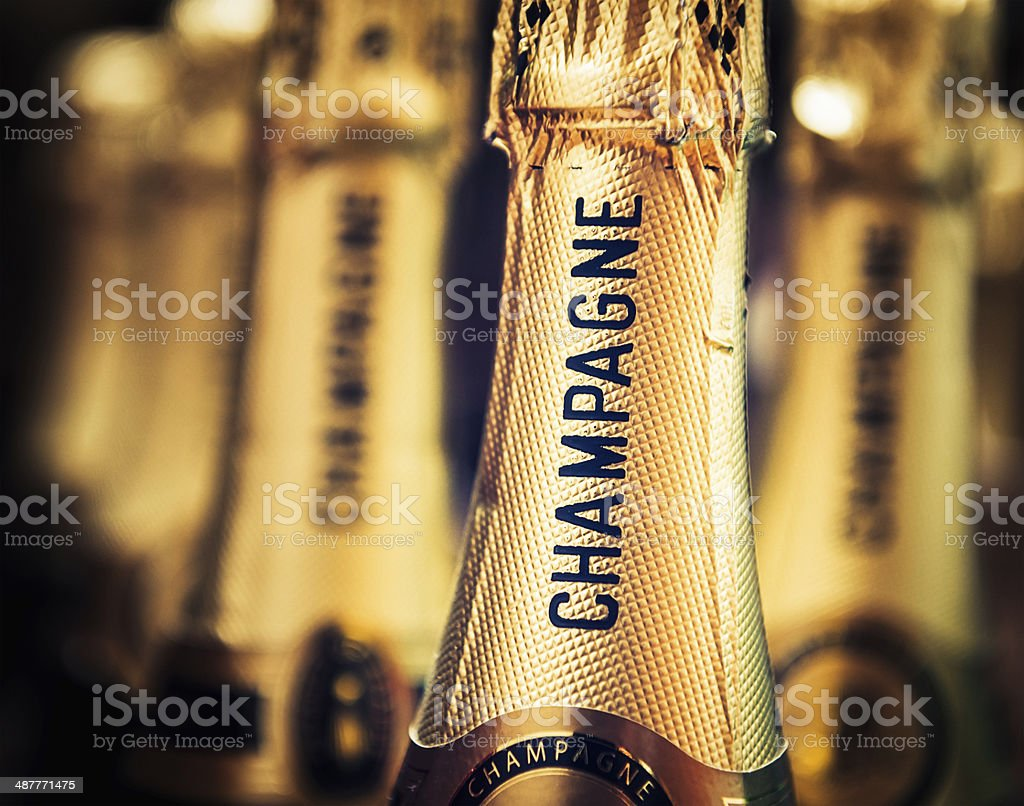 Champagne Bottles Ready To Open stock photo