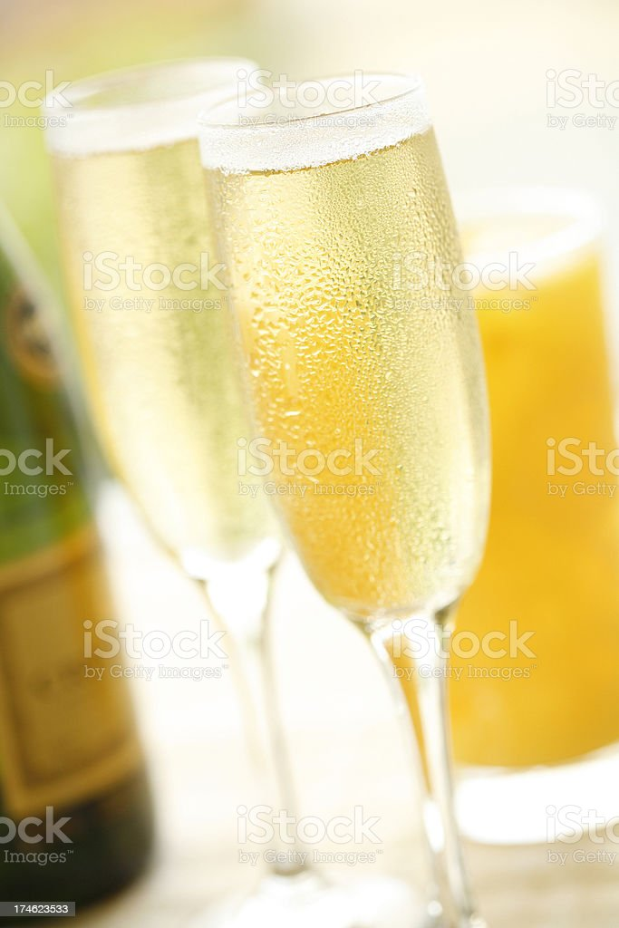 Champagne Breakfast royalty-free stock photo