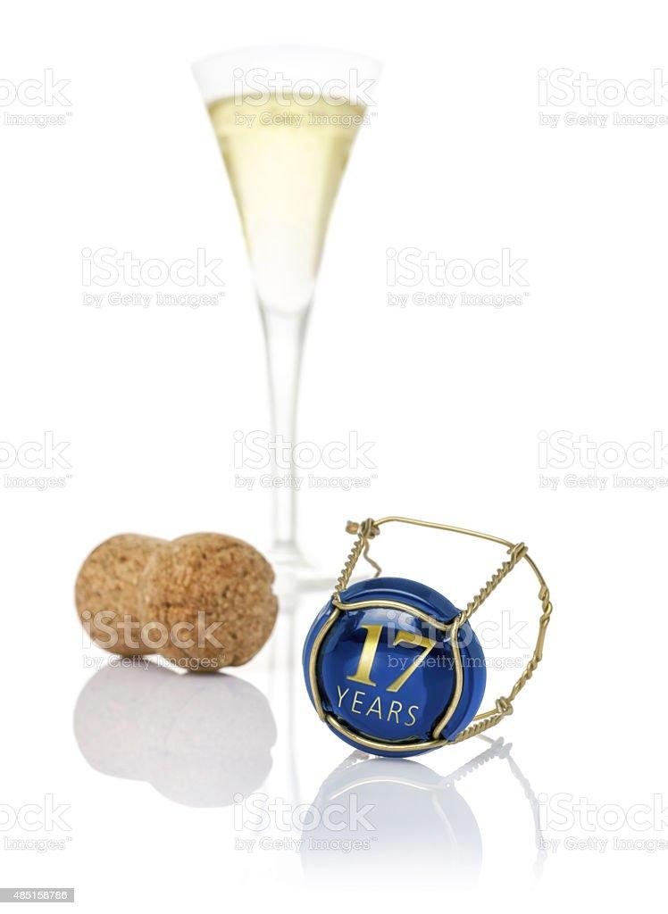 Casquette de Champagne avec l'inscription de 17 ans - Photo