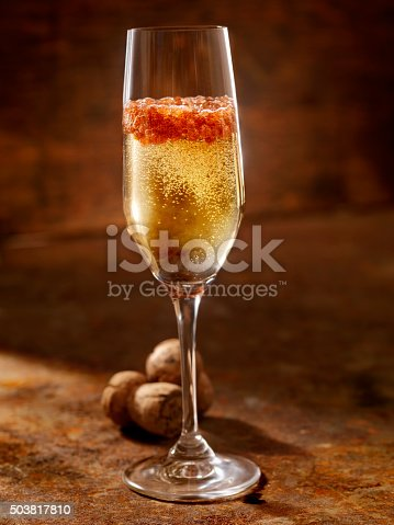 Champagne Caviar Cocktail -Photographed on Hasselblad H3D2-39mb Camera