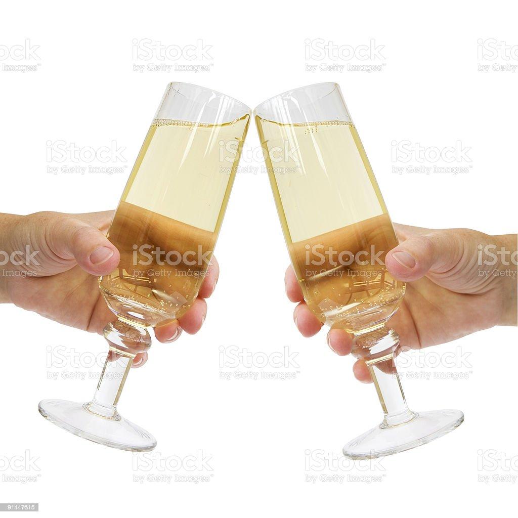 Champagne Celebration Toast royalty-free stock photo