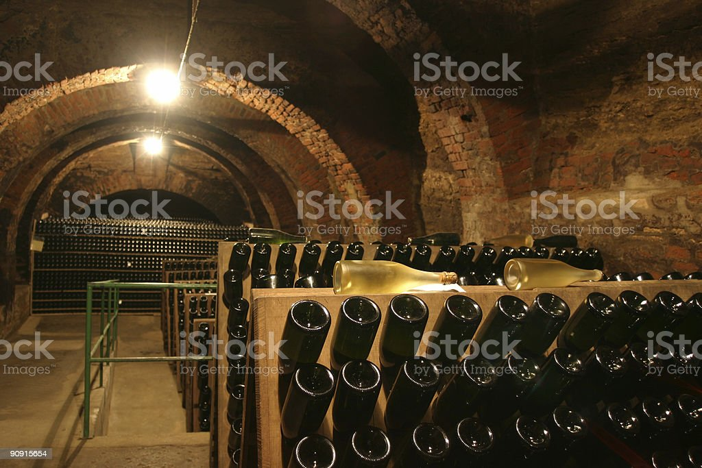 champagne cellar royalty-free stock photo