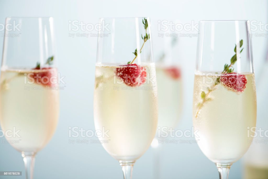 Champagne Cocktails stock photo