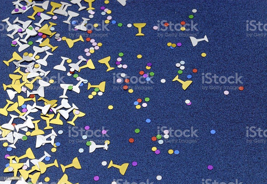 Champagne Confetti stock photo