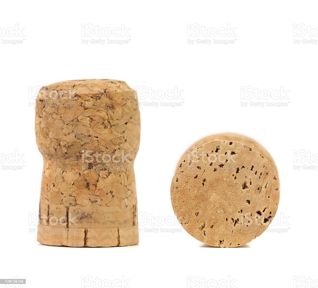 Champagne cork isolated on white background royalty-free stock photo