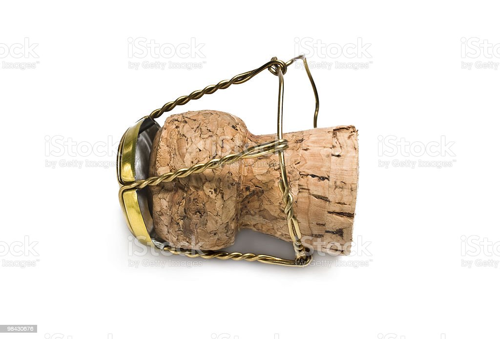 Champagne Cork Macro royalty-free stock photo
