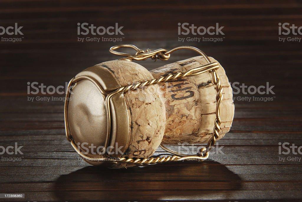 Corcho de champán foto de stock libre de derechos
